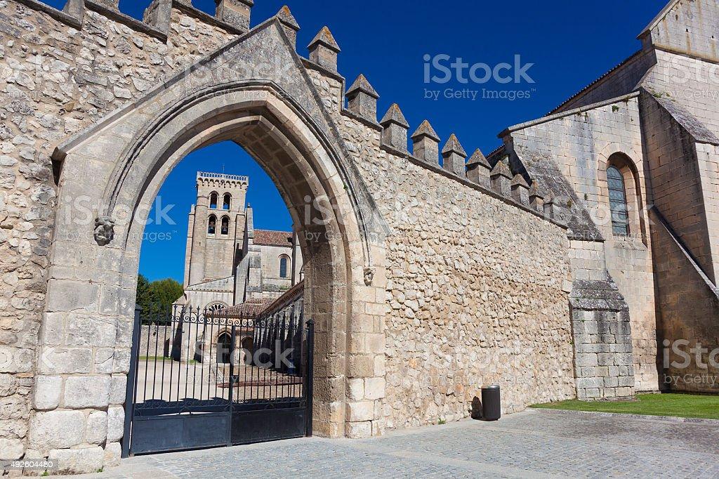 Monastery of Santa Maria la Real de Huelgas, Burgos stock photo