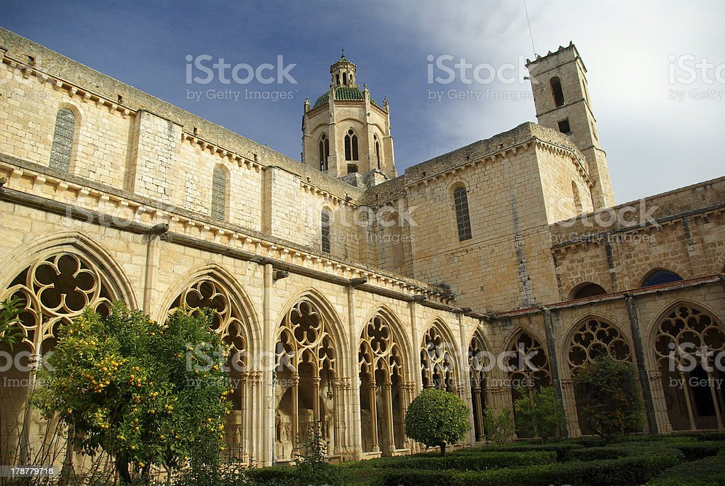 Monastery of Santes Creus.Tarragona.Catalonia.Spain stock photo