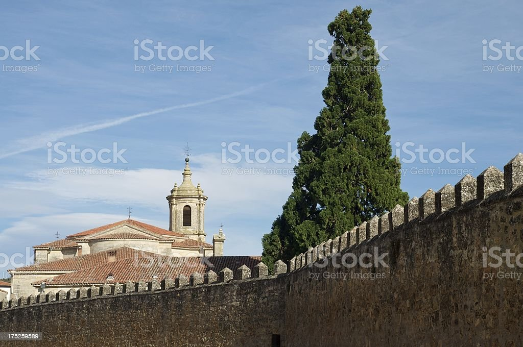 Monastery of Santo Domingo de Silos stock photo