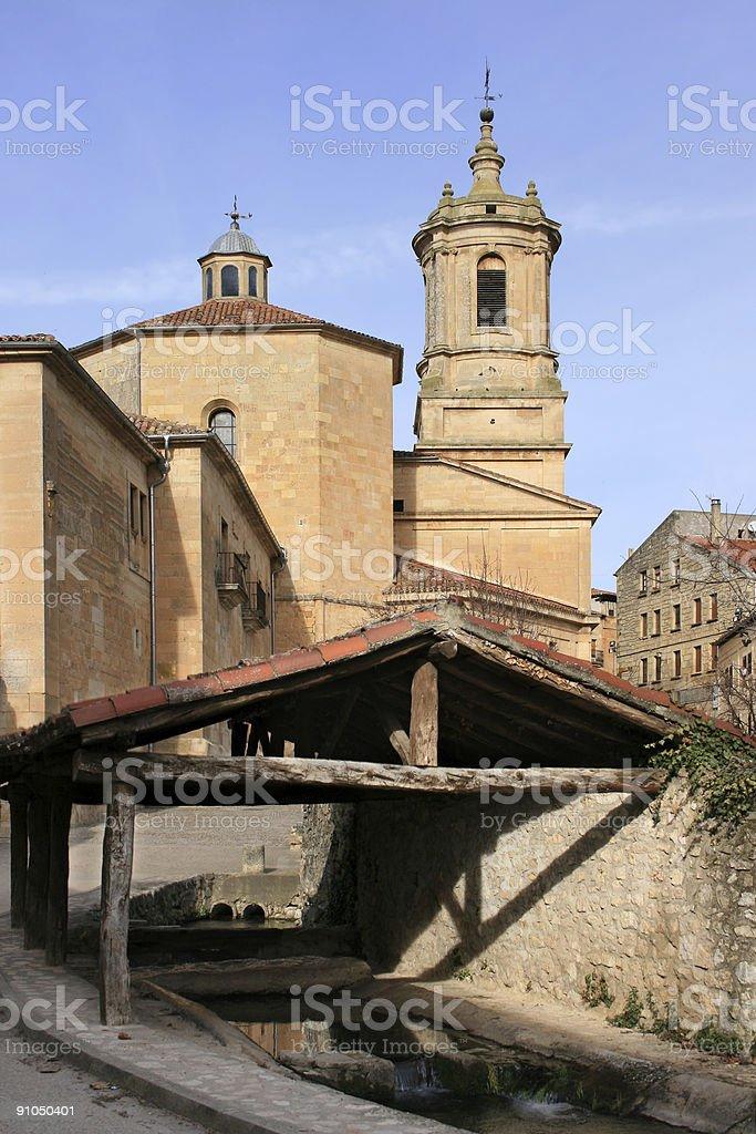 Monastery of Santo Domingo de Silos (Spain) stock photo