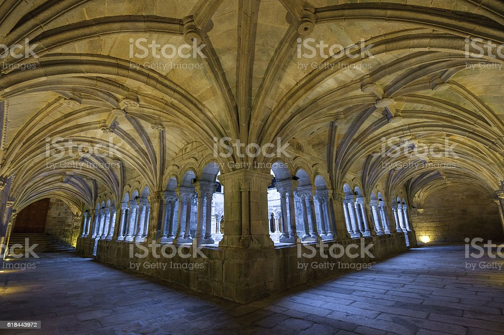 Monastery of Santo Estevo Ribas de Sil in Galicia, Spain stock photo