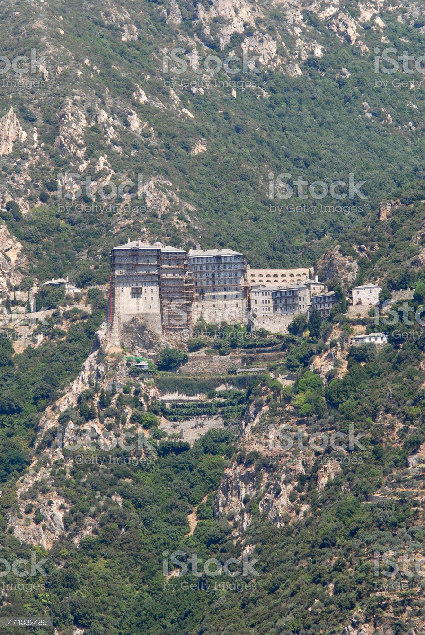 Monastery of Simonos Petra royalty-free stock photo