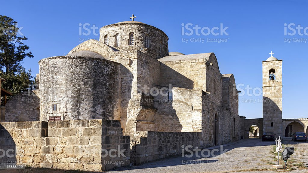 Monastery of St. Barnabas, Northern Cyprus stock photo