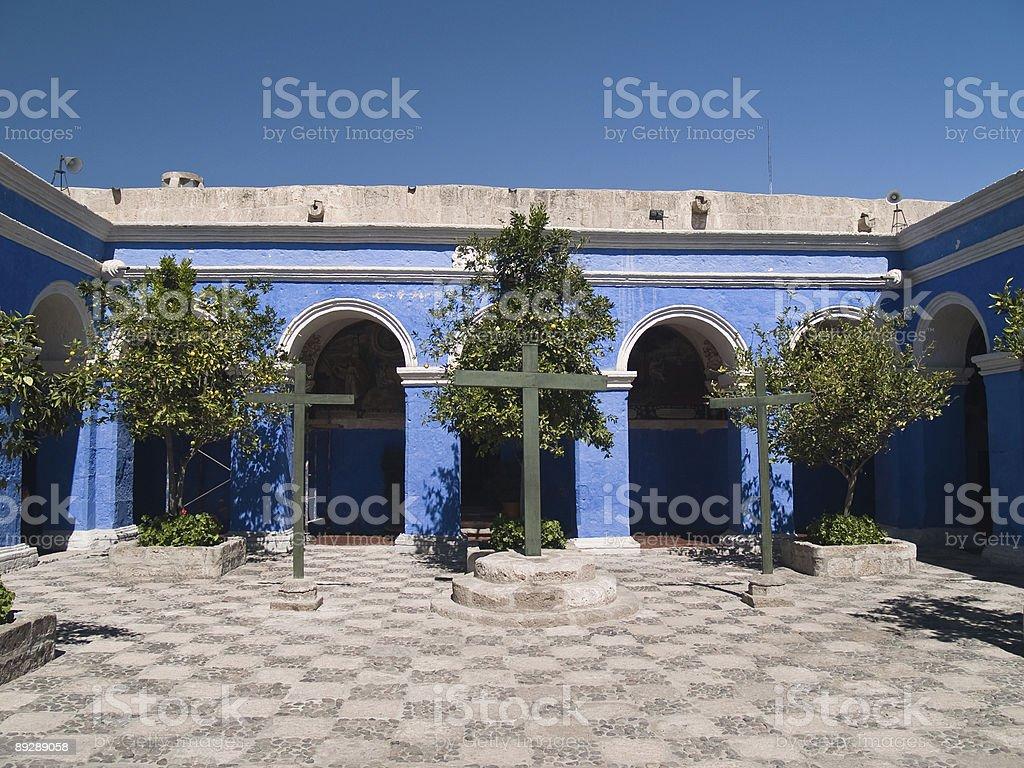 Monastery of St. Catherine at Arequipa, Peru stock photo