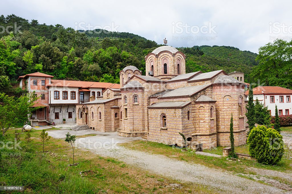 Monastery of St. Dionysios stock photo
