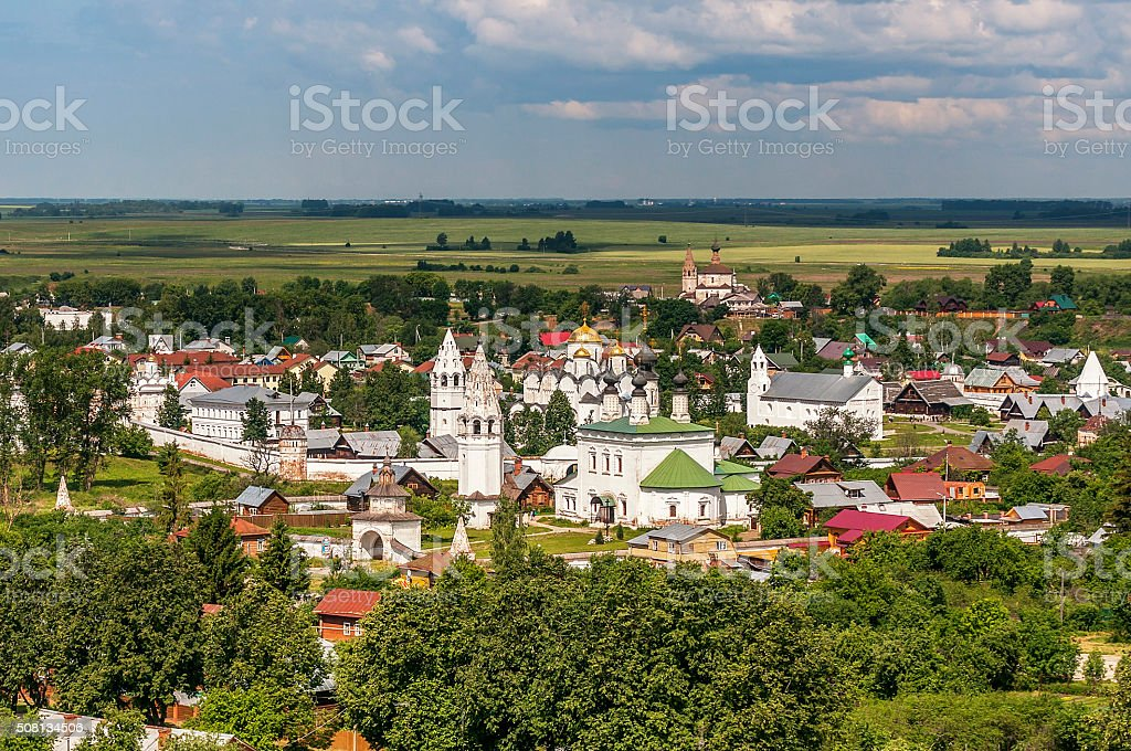 Monastery of St. Euthymius   in Suzdal, Russia. stock photo