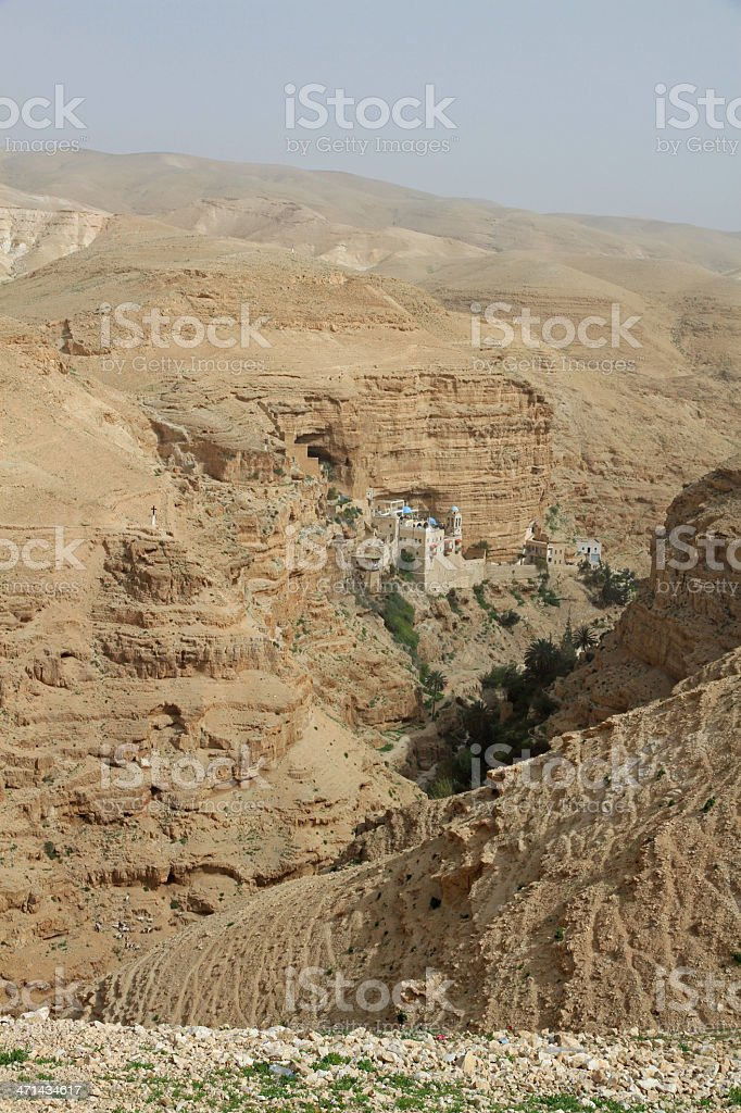 Monastery of St George in Israel royalty-free stock photo