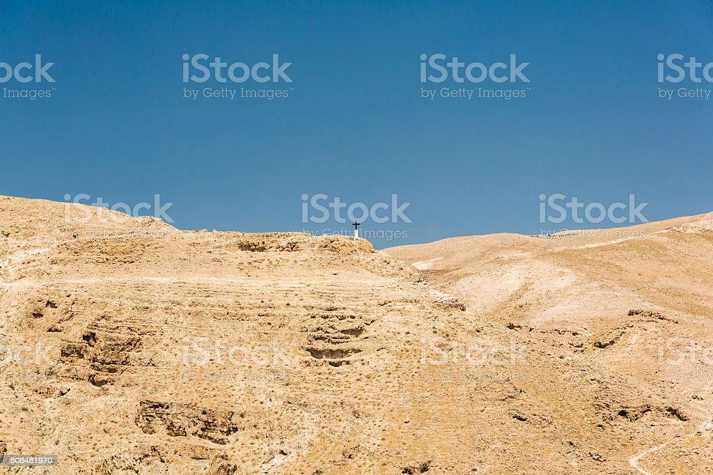 Monastery of St. George Israel stock photo
