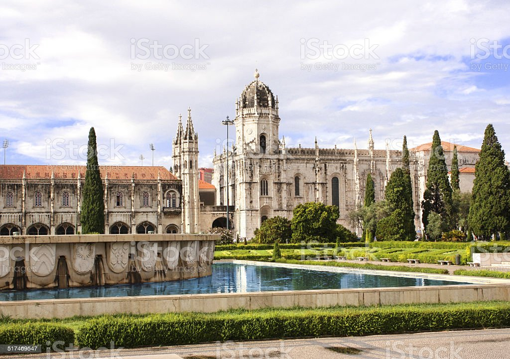 Monastery of the Hieronymites, Lisbon, Portugal stock photo