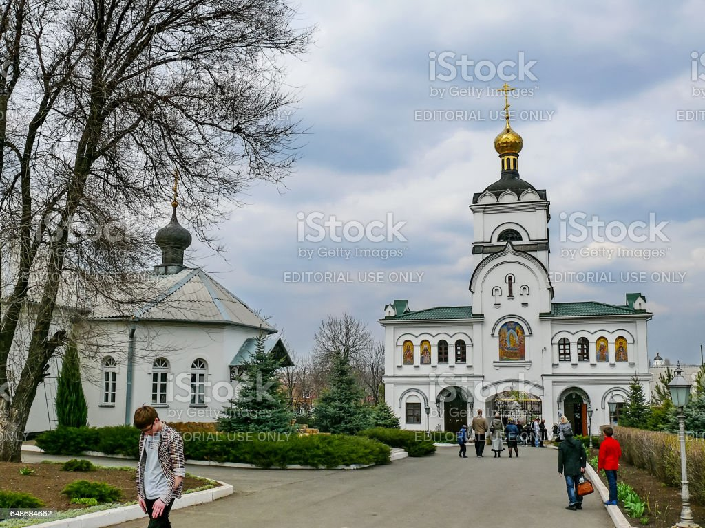Monastery of the Holy Dormition monastery, the appearance of the stock photo
