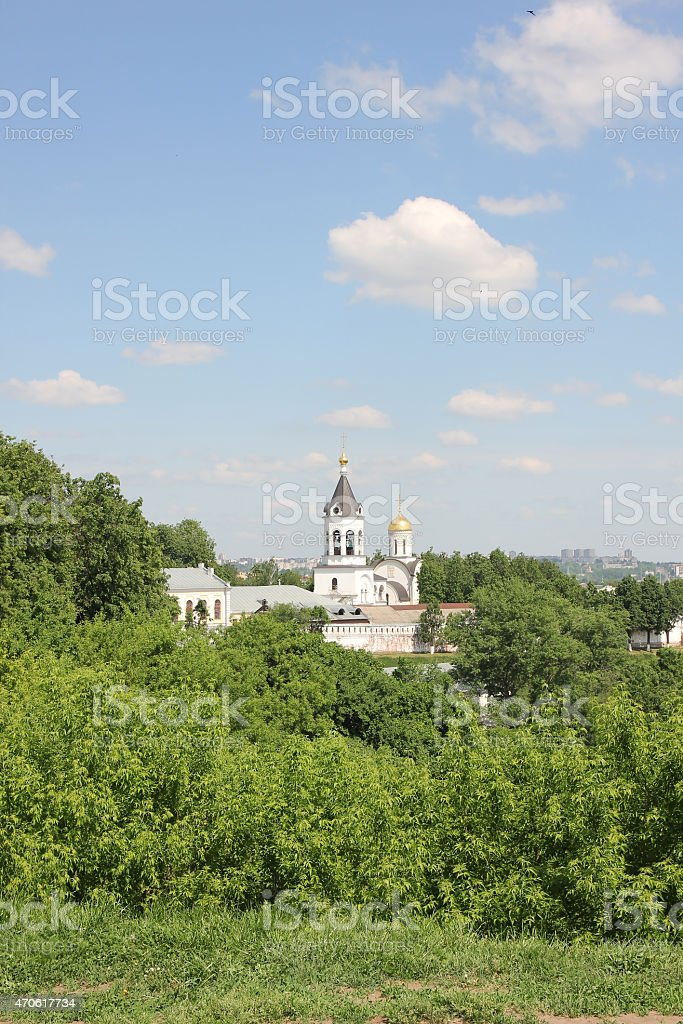 Monastery of the Nativity of the Blessed Virgin in Vladimir stock photo