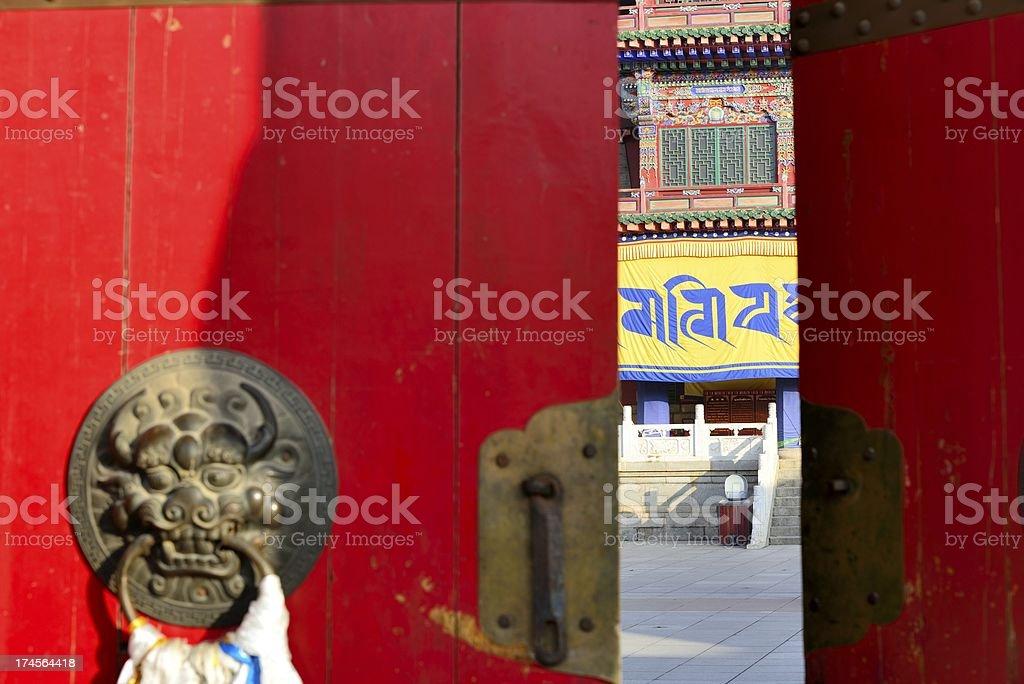 Monastery of Tibetan Buddhism stock photo