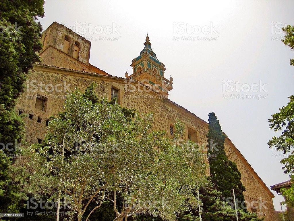 Monastery of Valldemossa, Majorca, Spain stock photo