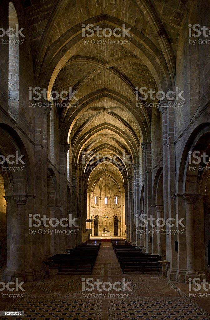 Monastery of Veruela, Spain stock photo
