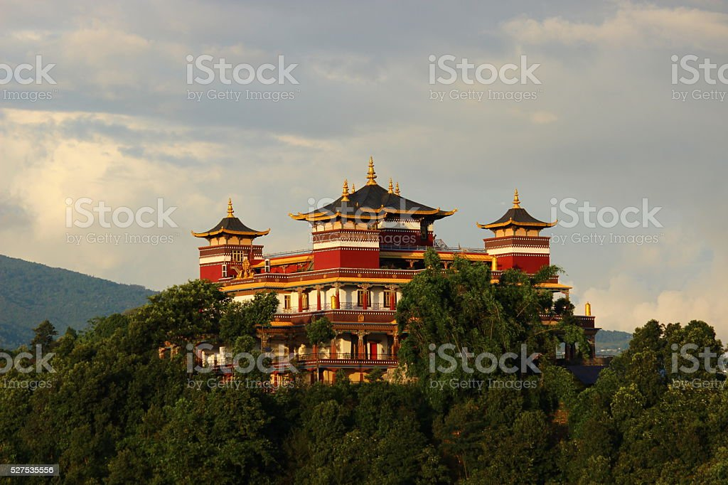 Monastery on a Hill stock photo