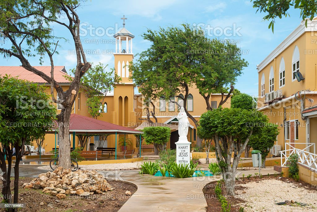 Monastery on Bonaire stock photo