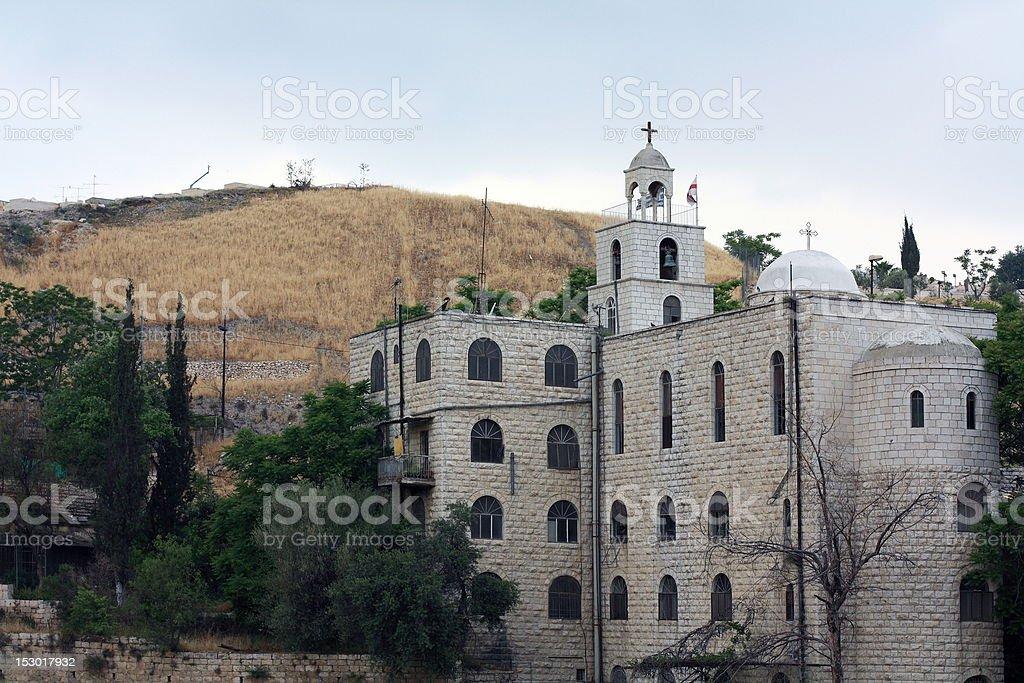 Monastery Protomartyr Stephen in Kidron Valley royalty-free stock photo
