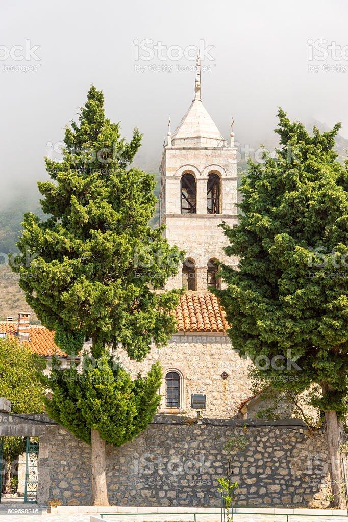 Monastery Rezevici in Montenegro stock photo