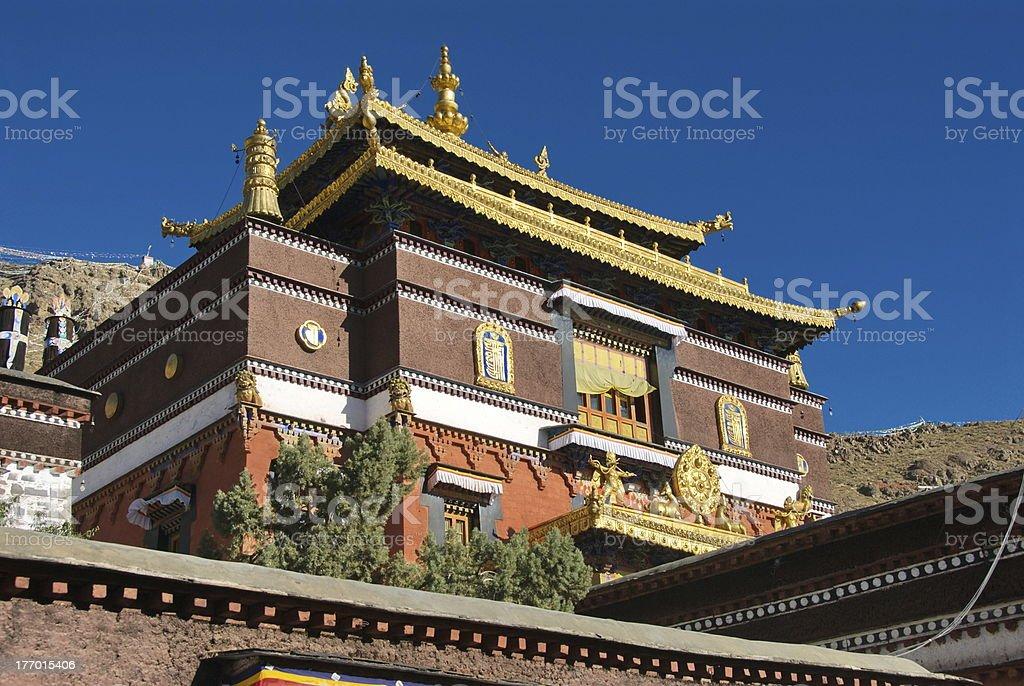 Monastery roofs royalty-free stock photo
