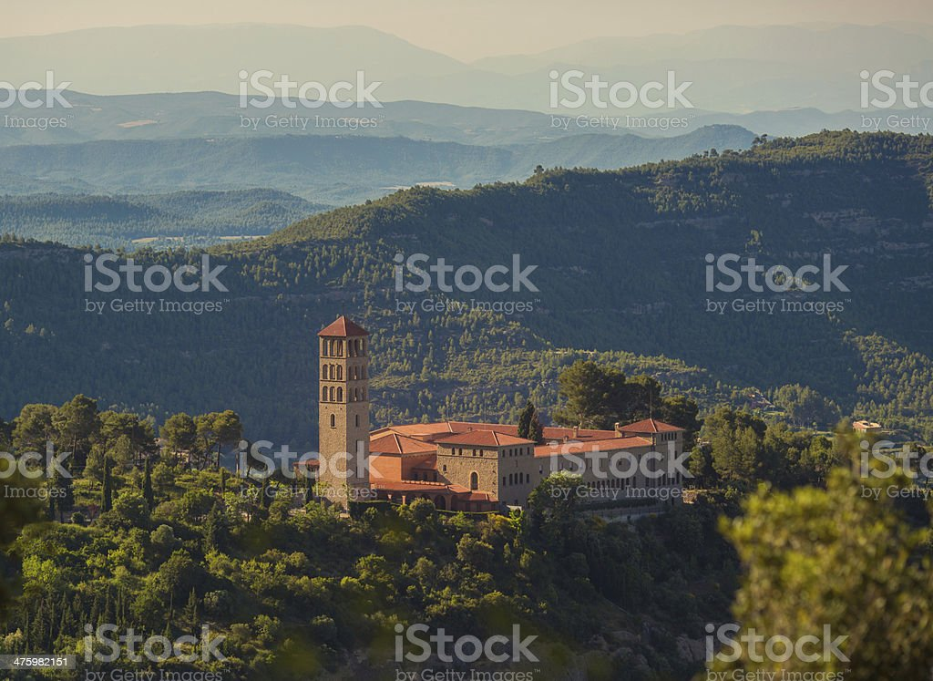 Monastery Sant Benet de Montserrat royalty-free stock photo