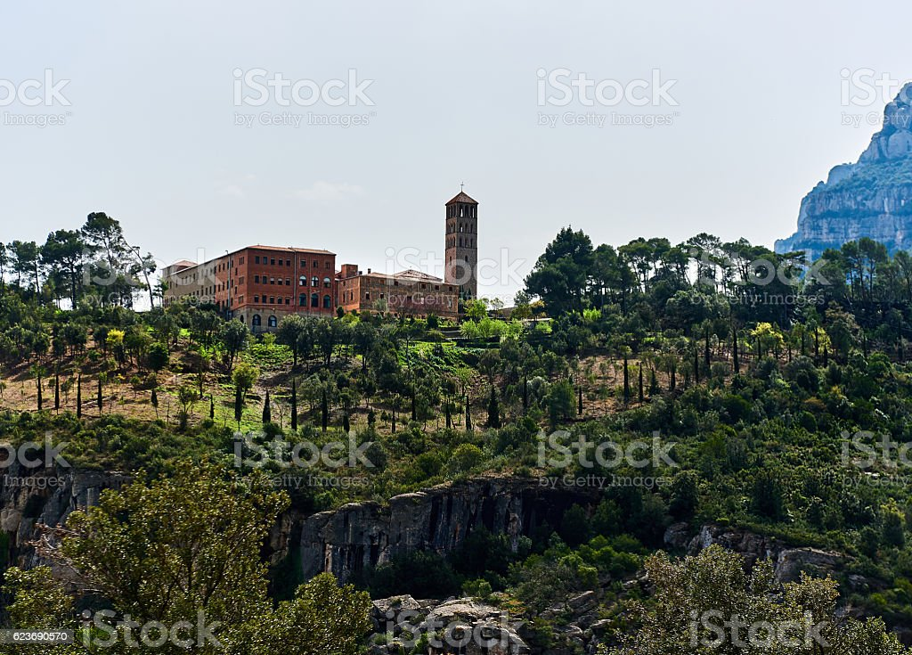 Monastery Sant Benet de Montserrat stock photo