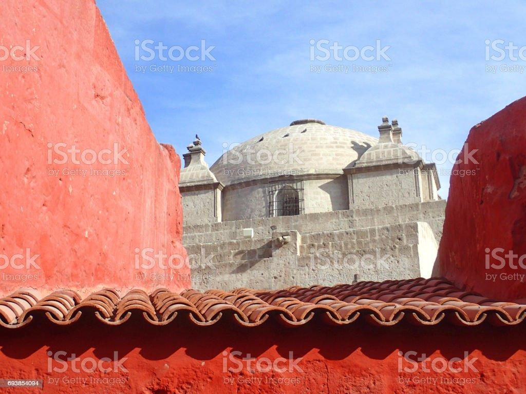 Monastery Santa Catalina, Arequipa, Peru stock photo