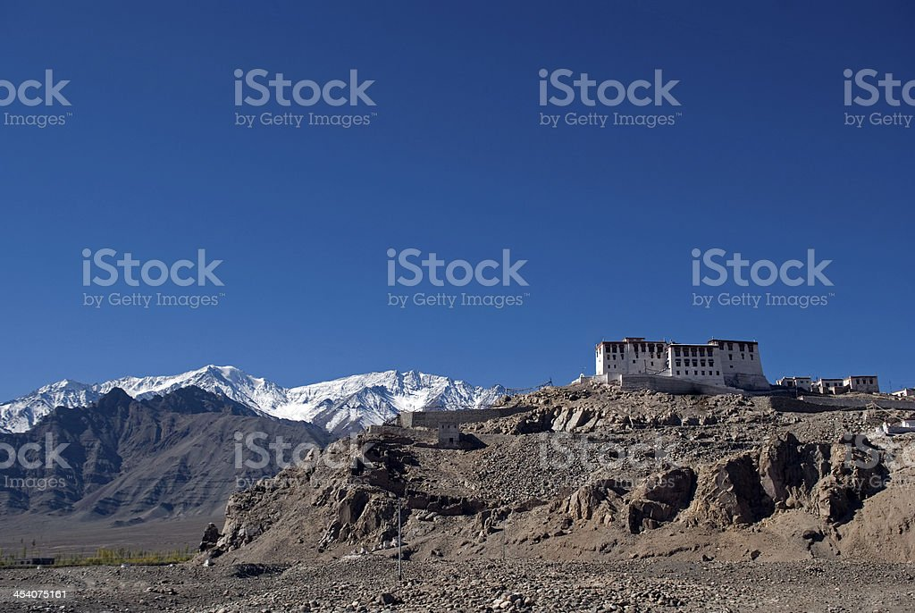 Monastery, Stagnak, Ladakh, India stock photo