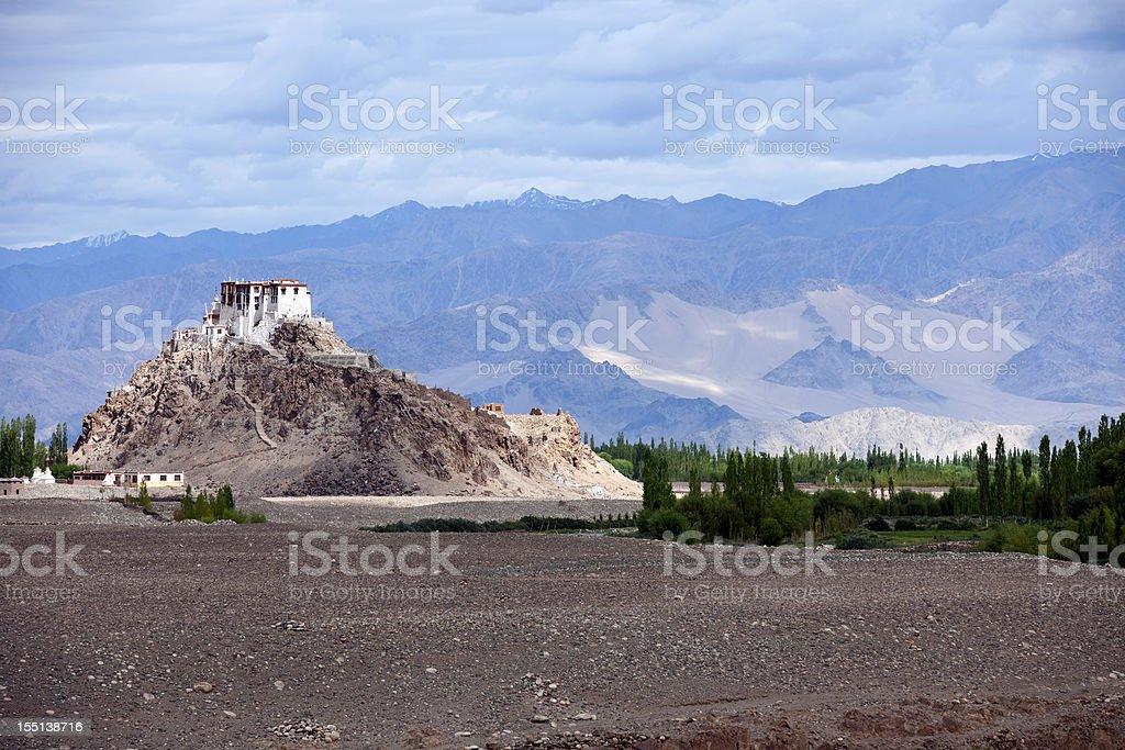 Monastery Stok in Indus Valley stock photo