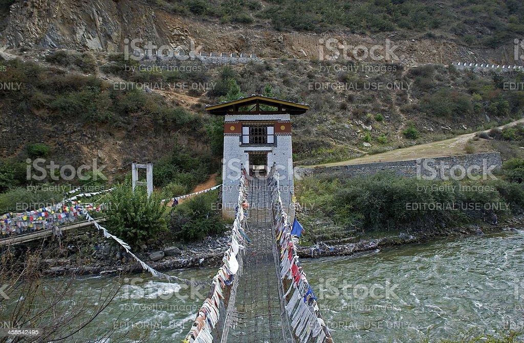 Monastery, Tamchhog Lhakhang, Bhutan stock photo