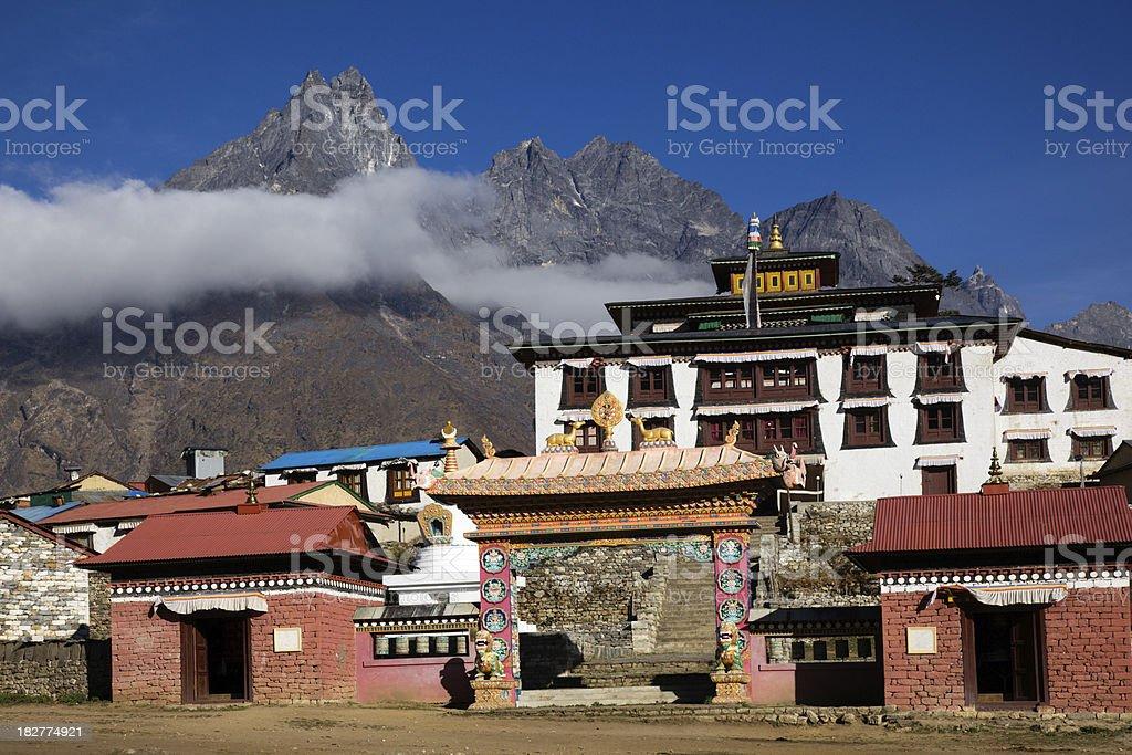 Monastery Tengboche stock photo