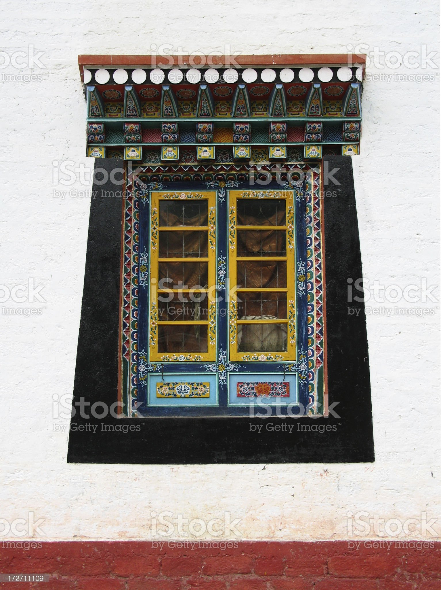 Monastery Window royalty-free stock photo