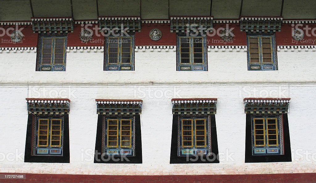 Monastery Windows royalty-free stock photo