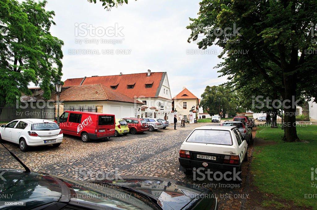 Monastic Brewery. Strahov Monastery in Prague. stock photo