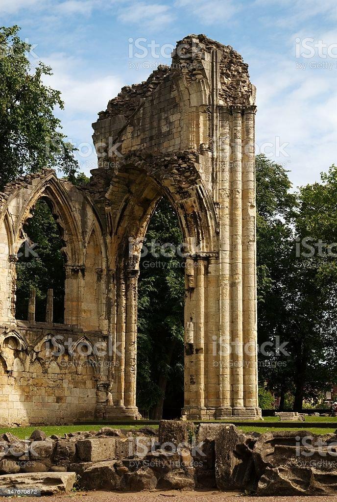 Monastic ruins stock photo