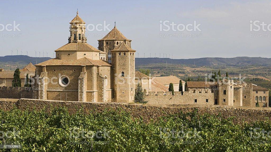 Monastic site of Poblet stock photo