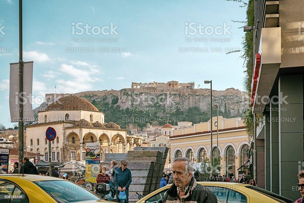 Monastiraki, Athens - Urban Scene stock photo