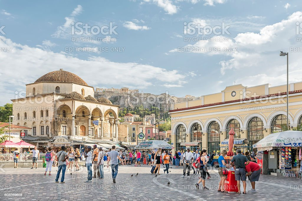 Monastiraki Square, Athens, Greece stock photo