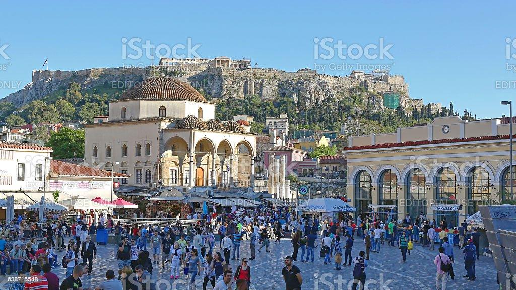 Monastiraki Square Athens stock photo