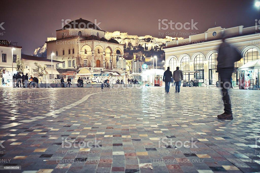 Monastiraki square. stock photo