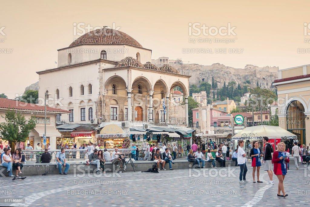 Monastiraki station stock photo