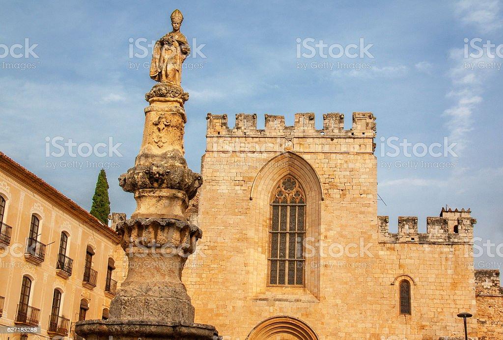 Monastère royal de Santes Creus, Catalogne, Espagne stock photo