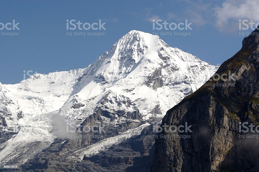 Monch in the Swiss Alps royalty-free stock photo