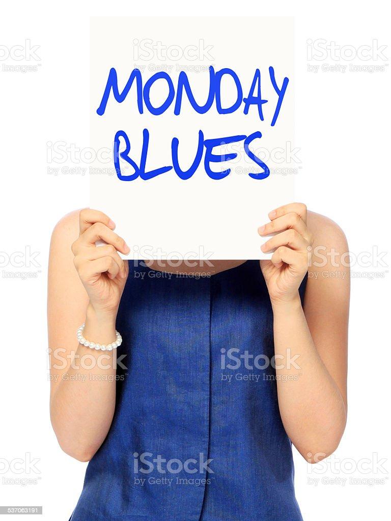 Monday Blues stock photo