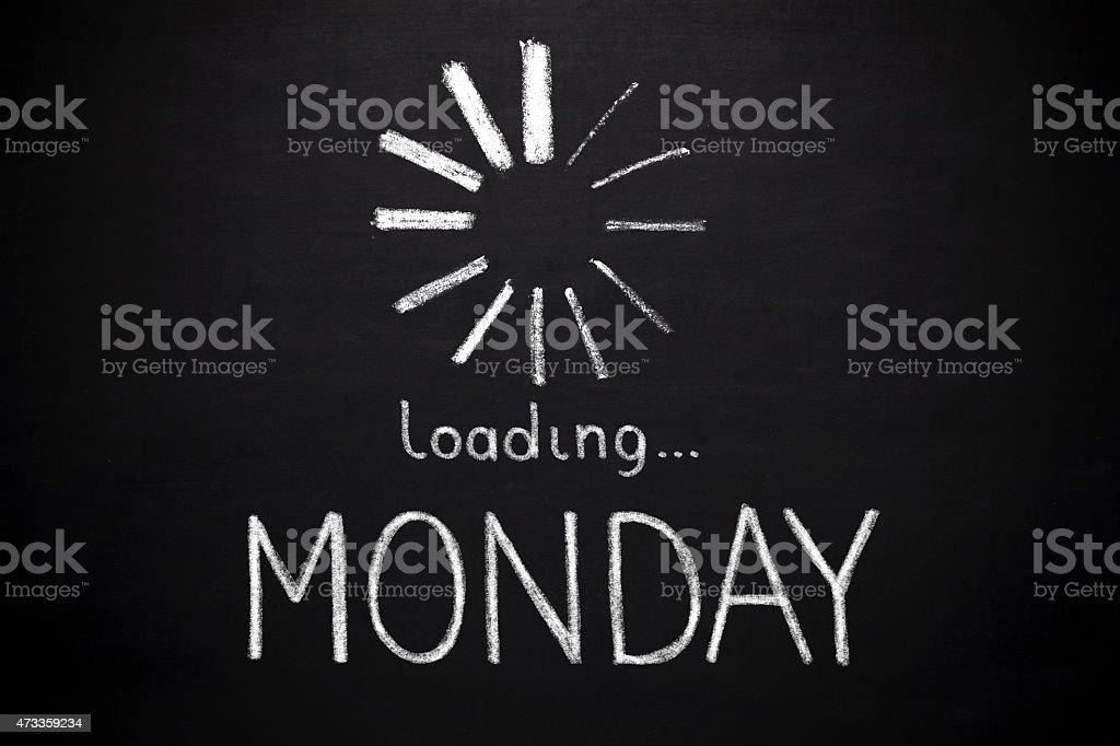 Monday loading stock photo