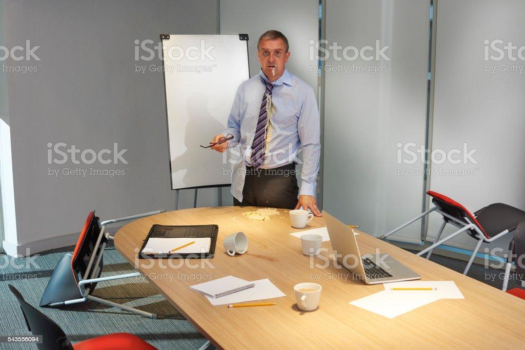 monday morning meeting stock photo
