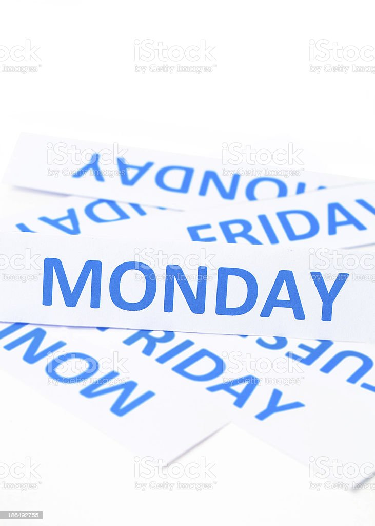 monday word texture background royalty-free stock photo