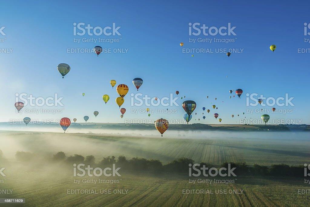 Mondial hot Air Ballon reunion in Lorraine France royalty-free stock photo