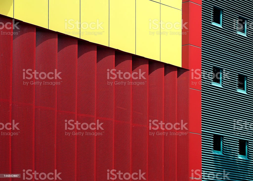 Mondrian-inspired Architecture royalty-free stock photo