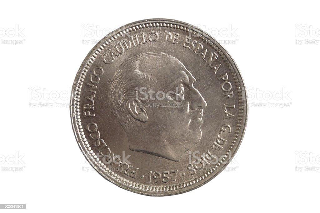 moneda española stock photo