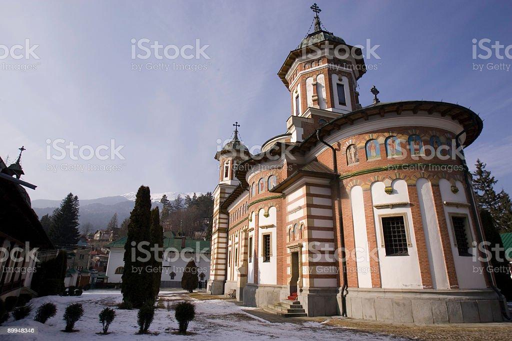 monestary in SInaia, Rumania stock photo